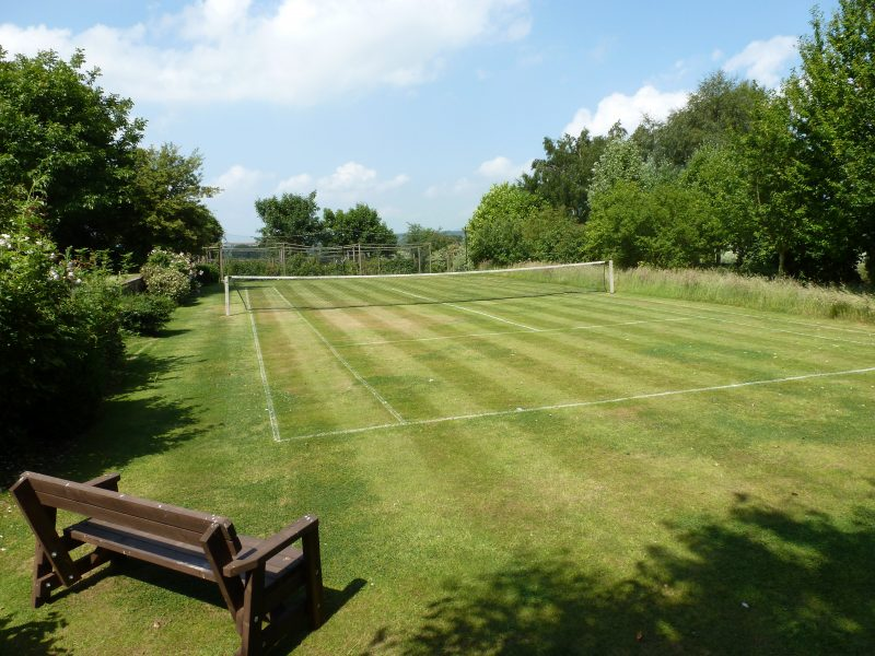 Grass Tennis court at Granary Holidays